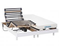 Matratzen elektrischer Lattenrost 2er-Set Memory Schaum HERACLES - Weiß - 2x70x190 cm