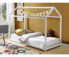 Kinderbett Hausbett AVENTURIER - 90 x 190 cm - Kiefer - Weiß
