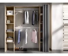 Kleiderschrank Kleiderschranksystem DORIAN - B. 110/180 cm - Eiche & Grau