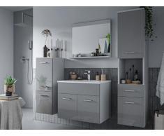 Komplettbad Hochglanz + Waschbecken CLAUDIO - Grau