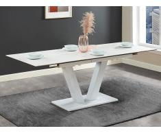 Esstisch ausziehbar NANOMA - Keramik & Metall - Weiß