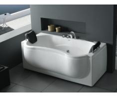 SALE - LED-Whirlpool Badewanne Ondine - 2 Personen - 200 L