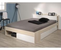 PARISOT Bett mit Stauraum Most - Verstellbar 140x190cm bis 140x200cm - Holzfarben