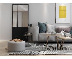 Spiegel Atelier-Tür Industrie-Stil EDIMBOURG - Metall - Schwarz