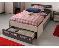 PARISOT Bett mit Stauraum FABRIC - 90 x 190 cm - 3 Schubladen