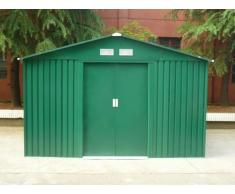 Gerätehaus Metall Maxita II - 9,3m² - Grün