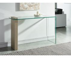 Wandkonsole Glas MANDY - Grau