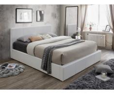 Polsterbett mit Bettkasten TREMPLIN II - 180x200cm - Weiß