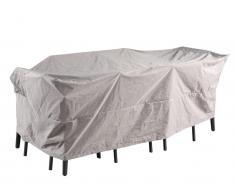 Schutzhülle wasserdicht für Gartenmöbel CAMOGLI - B240 x T130 x H80 cm - Hellgrau