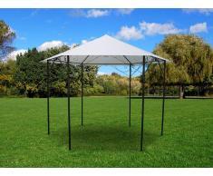 Gartenpavillon FORMOSA - Metall & Polyester - 350x265cm