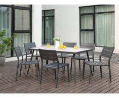 Garten Essgruppe Aluminium SAIPAN - Tisch & 6 Stühle