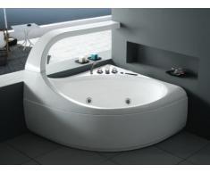 LED-Whirlpool Eckwanne Ellipse - 2 Personen - 300 L