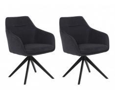 Stuhl mit Armlehnen 2er-Set MUSE - Stoff