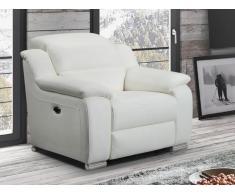 Relaxsessel Fernsehsessel elektrisch ARENA III - Leder - Elfenbeinfarben