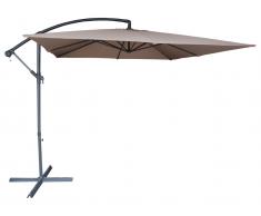 Sonnenschirm höhenverstellbar mit Fuß Capelina - D. 250 cm - Taupe