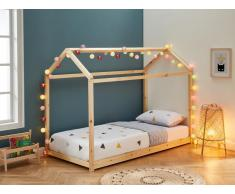 Kinderbett Hausbett AVENTURIER - 90 x 190 cm - Kiefer - Naturfarben