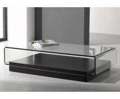 Couchtisch Hochglanz Glas Design Gloss - Schwarz