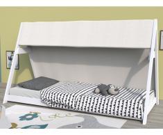 Kinderbett Tipibett COMANCHE - 90x200 cm - Fichte - Weiß