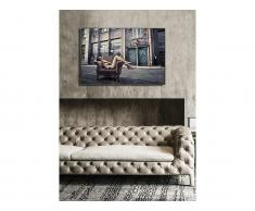 Kunstdruck gerahmt STREETY - 80 x 120 x 2,5 cm - Grau & Beige