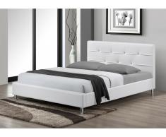Polsterbett Strass Gabin - 140x190cm - Weiß