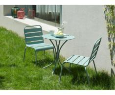 Garten Essgruppe MIRMANDE - Tisch D. 60 cm & 2 Stühle - Grün