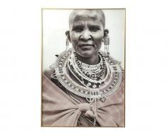 Kunstdruck gerahmt ANNA - 80 x 120 x 2,5 cm - Grau