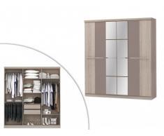 Kleiderschrank Wilhem - 6 Türen - Taupe