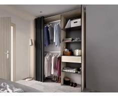 Kleiderschrank Kleiderschranksystem LAURENT - B. 110/160 cm - Eiche & Anthrazit