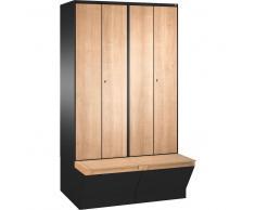 C+P Garderobenschrank mit Aufbewahrungsbox, b60xt50xh209cm