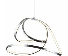 SHINE 5 LED-Pendelleuchte, silber, dimmbar mit Fernbedienung