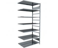 Anbau-Ordner-Steckregal doppelseitig, b100xt60xh220cm