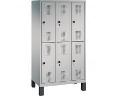 C+P Garderobenschrank für Grundschulen, 6 Fächern, b90xt30xh165cm