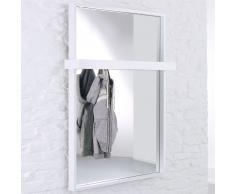 OPLA-WALL-W Spiegel-Wandgarderobe mit 5 Haken, b110xt20xh160cm
