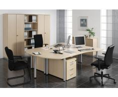 GERAMÖBEL Büromöbel Set, Doppelarbeitsplatz, 480x450cm