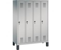C+P Garderobenschrank für Grundschulen, 4 Fächern, b119xt30xh165cm