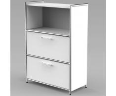 ARTLINE Sideboard mit 2 Schubladen 3-OH, oben 1-OH offen, 80cm breit