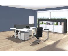 FORM 4 Büromöbel Set, 2 Arbeitsplätze 400x300