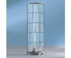 FORUM Glasvitrine mit Flügeltür b43xt43xh176cm