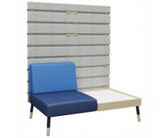 TEPEE 1-Sitzer Sofa mit Paneel und großem Tisch, zur Verbindung oder freistehend