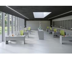 TREND PUR Büromöbel Set, 8 Einzelarbeitsplätze mit Schrankwand, 900x700cm