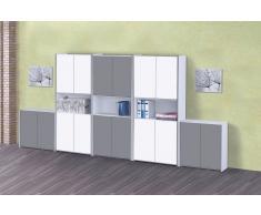 FRESH Büromöbel-Set Schrankwand b400x200cm