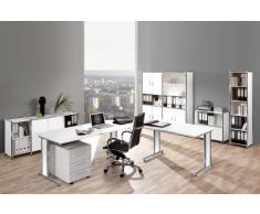 ARTLINE Büromöbel Set, 1 Arbeitsplatz mit Anbautisch, 550x400