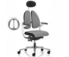 XENIUM DUO BACK ® WHITE Drehstuhl mit Duo-Polsterrücken, Rücken und Sitz mit Seitenböden