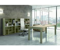 TREND TOWER Büromöbel-Set, Einzelarbeitsplatz mit Büroregal, 400x400cm