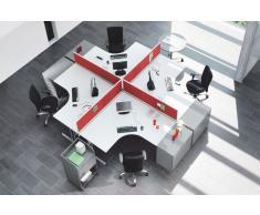 EXPERT Büromöbel Set, 4 Arbeitsplätze, 510x620cm