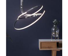 SHINE 7 LED-Deckenleuchte, verchromt, dimmbar mit Fernbedienung