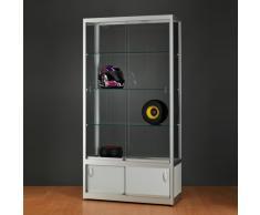 WME Glasvitrine mit Unterschrank und Schiebetüren b100xt40xh197,2cm