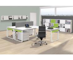 FRESH Büromöbel Set, 1 Doppelarbeitsplatz, 400x450cm