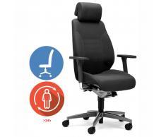 giroflex ADAPT 60-9829 24h-Drehsessel mit Komfortpolster und Kopfstütze