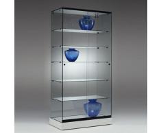POLARIS Standvitrine mit Schiebetüren b90xt46xh182cm
